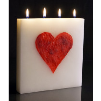 Heart - Large Tablet Candle