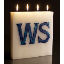 Letter (customised) - Large Tablet Candle