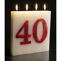 Number (customised) - Large Tablet Candle
