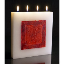 Ruby Square - Large Tablet Candle